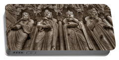 Notre Dame Facade Detail Portable Battery Charger
