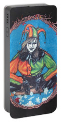 Portable Battery Charger featuring the drawing November Snow by Michael  TMAD Finney