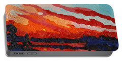 November Sunset Portable Battery Charger by Phil Chadwick