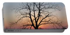 November Walnut Tree At Sunrise Portable Battery Charger