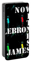Portable Battery Charger featuring the photograph Now Witness Lebron James by J Anthony