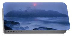 Nubble Light In Foggy Dawn Portable Battery Charger