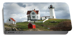 Nubble Lighthouse Portable Battery Charger by Nancy Landry