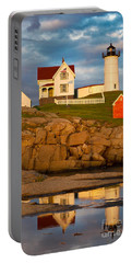 Portable Battery Charger featuring the photograph Nubble Lighthouse No 1 by Jerry Fornarotto