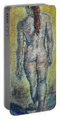 Nude Brunet Portable Battery Charger