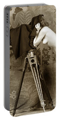 Nude In High Heel Shoes With Studio Camera Circa 1920 Portable Battery Charger