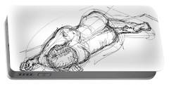 Nude Male Sketches 4 Portable Battery Charger