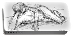 Nude Male Sketches 5 Portable Battery Charger