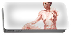 Nude Model Gesture X Portable Battery Charger