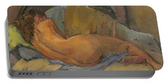 Nude On Chaise Longue Portable Battery Charger