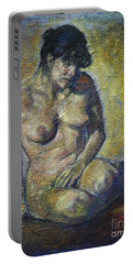 Sad - Nude Woman Portable Battery Charger