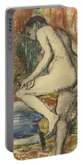 Nude Woman Wiping Herself After The Bath Portable Battery Charger