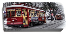 Portable Battery Charger featuring the photograph Number 2024 Trolley by Tammy Wetzel