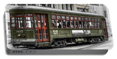 Portable Battery Charger featuring the photograph Number 965 Trolley by Tammy Wetzel