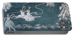 Nutcrackers Dance Of The Snowflakes Portable Battery Charger by Sharyn Winters