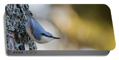 Nuthatch In The Classical Position Portable Battery Charger