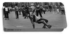Portable Battery Charger featuring the photograph Ny City Street Performer by Angela DeFrias