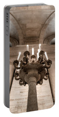 Ny Public Library Candelabra Portable Battery Charger by Angela DeFrias