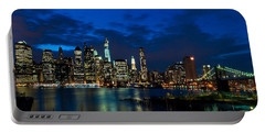 Ny Skyline From Brooklyn Heights Promenade Portable Battery Charger by Mitchell R Grosky