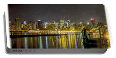 Nyc At Night Faux Oil Portable Battery Charger