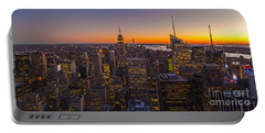 Nyc Top Of The Rock Sunset Portable Battery Charger