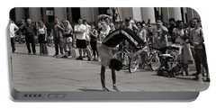 Portable Battery Charger featuring the photograph Nycity Street Performer by Angela DeFrias