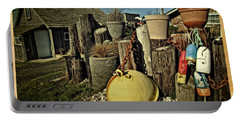 Portable Battery Charger featuring the photograph Nye Beach Buoys by Thom Zehrfeld