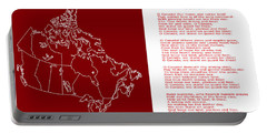 O Canada Lyrics And Map Portable Battery Charger