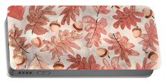 Oak Leaves And Acorns Portable Battery Charger