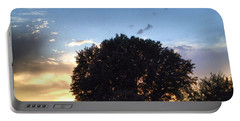 Oak Tree At The Magic Hour Portable Battery Charger
