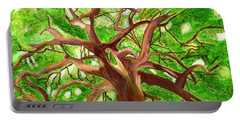 Oak Tree Portable Battery Charger by Magdalena Frohnsdorff