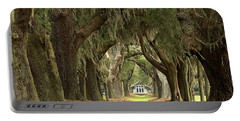 Oaks Of The Golden Isles Portable Battery Charger by Adam Jewell