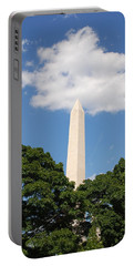 Obelisk Rises Into The Clouds Portable Battery Charger