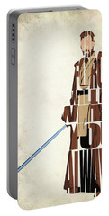 Obi-wan Kenobi - Ewan Mcgregor Portable Battery Charger by Ayse Deniz