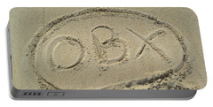 Obx Sign In The Sand Portable Battery Charger