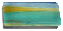 Ocean Blue 3- Art By Linda Woods Portable Battery Charger