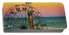 Ocean City Nj Wonder Wheel And Double Shot Portable Battery Charger