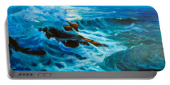 Portable Battery Charger featuring the painting Ocean Deep by Jenny Lee