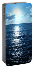Portable Battery Charger featuring the painting Ocean Fall by Fei A