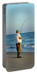Portable Battery Charger featuring the photograph Ocean Fishing by Cynthia Guinn
