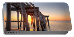 Ocean Grove Pier Sunrise Portable Battery Charger