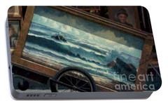 Portable Battery Charger featuring the photograph Ocean On Wheels Artist Cart At Jackson Square New Orleans La Usa by Michael Hoard