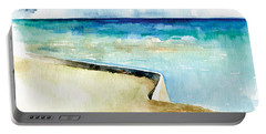 Ocean Pier In Key West Florida Portable Battery Charger by Catherine Twomey