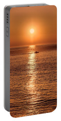 Ocean Sunrise At Montauk Point Portable Battery Charger