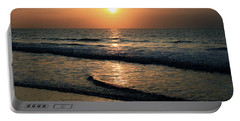 Ocean Sunrise Over Myrtle Beach Portable Battery Charger