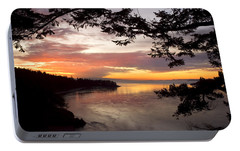 Portable Battery Charger featuring the photograph Ocean Sunset Deception Pass by Yulia Kazansky