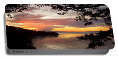 Ocean Sunset Deception Pass Portable Battery Charger by Yulia Kazansky