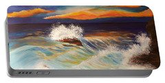 Ocean Sunset Portable Battery Charger by Michelle Joseph-Long