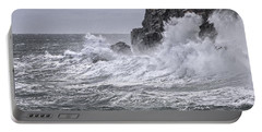 Ocean Surge At Gulliver's Portable Battery Charger by Marty Saccone