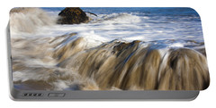 Ocean Waves Breaking Over The Rocks Photography Portable Battery Charger